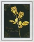 Tranh thêu chữ thập: Hoa hồng vàng