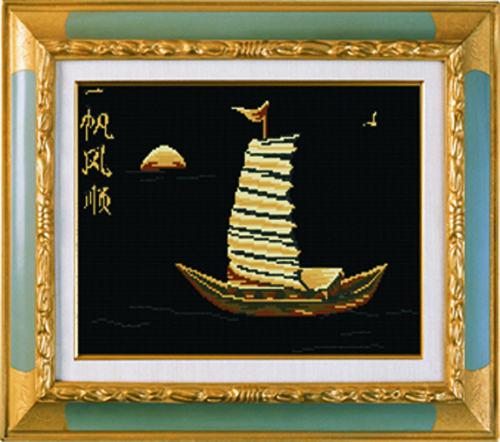 Tranh thêu chữ thập: Thuận buồm xuôi gió 81192