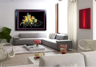 Ý nghĩa của hoa Lan trong tranh phong thủy