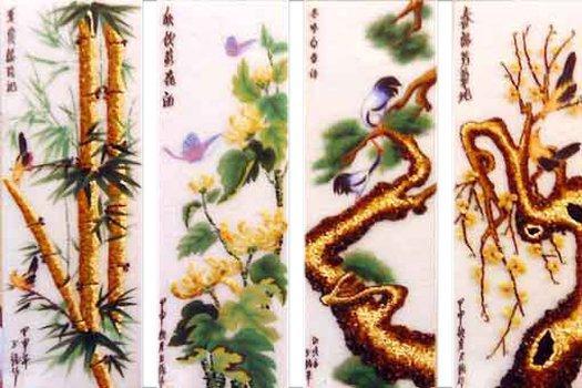Ý nghĩa tranh tứ quý Tùng – Cúc – Trúc – Mai
