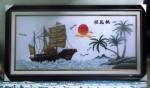 Tranh thêu tay chữ thập: Thuận buồm xuôi gió