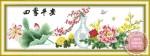 Tranh thêu chữ thập: Bốn mùa (in màu)