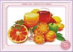 Tranh thêu chữ thập: Hoa quả (in màu)