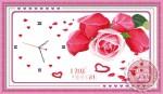 Tranh thêu chữ thập đồng hồ tình yêu