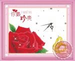 Tranh thêu đồng hồ hoa hồng Y8130