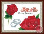 Tranh thêu chữ thập: Hoa hồng tình yêu