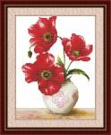 Tranh thêu chữ thập: Hoa Poppy