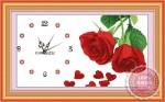 Tranh thêu đồng hồ hoa hồng Y8108