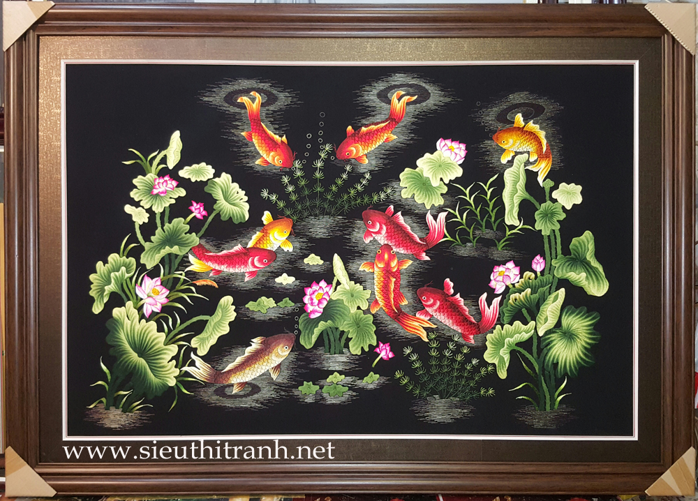 Ý nghĩa bức tranh 'Cá chép và hoa sen' – Tranh cửu ngư