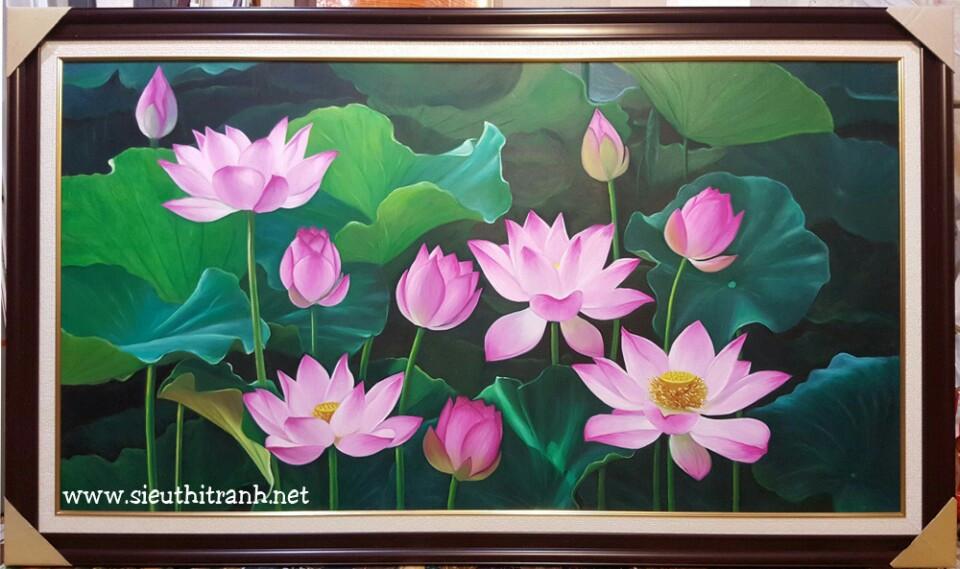 Ý nghĩa phong thủy của tranh hoa sen